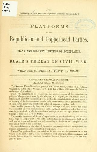 Platforms of the Republican and Copperland parties by Republican congressional committee