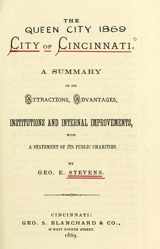 The city of Cincinnati by Geo. E. Stevens