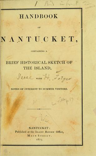 Handbook of Nantucket by Isaac H. Folger