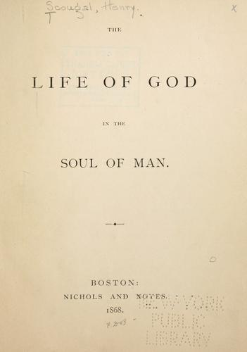 Life of God in the soul of man by Henry Scougal