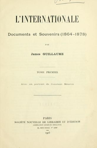 L' Internationale by James Guillaume